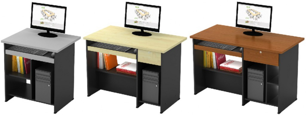 Computer table available in 3 size and colors.