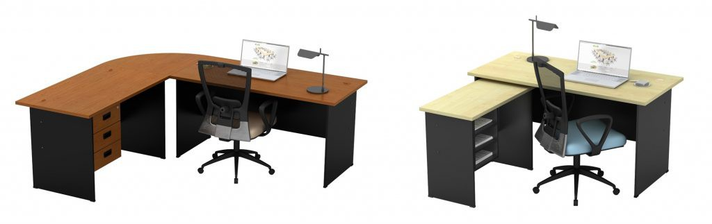A connection top could be combined with the desks for an extension to expand your workplace anytime.